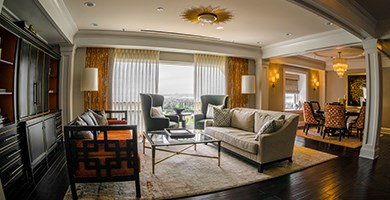 The historic Claremont Club & Spa boasts a number of memorable spaces, including the Presidential Suite