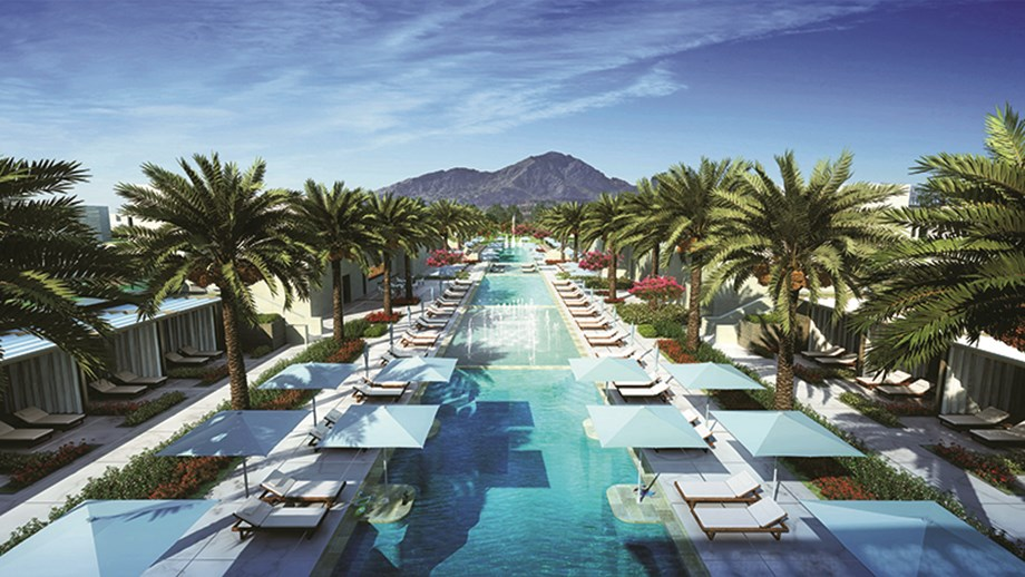 The 400-foot pool will be a signature sight at the Ritz-Carlton, Paradise Valley.