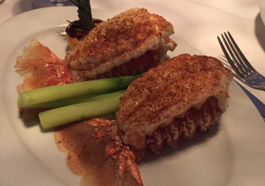 Twin lobster tails at Ocean Prime