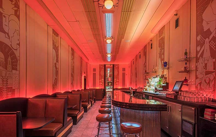 In the Oxford Hotel's Art Deco-style Cruise Room, a ghostly postman has been spotted.