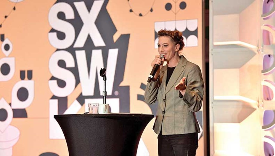 Singer/songwriter and playwright Amanda Palmer spoke at SXSW in 2019.