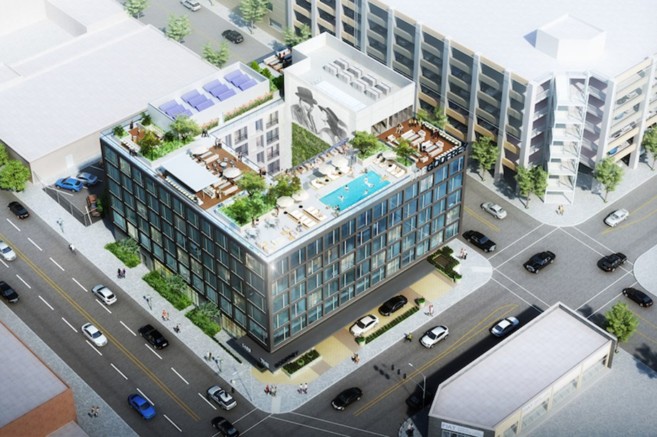 The Godfrey Hotel Hollywood will feature a rooftop pool.
