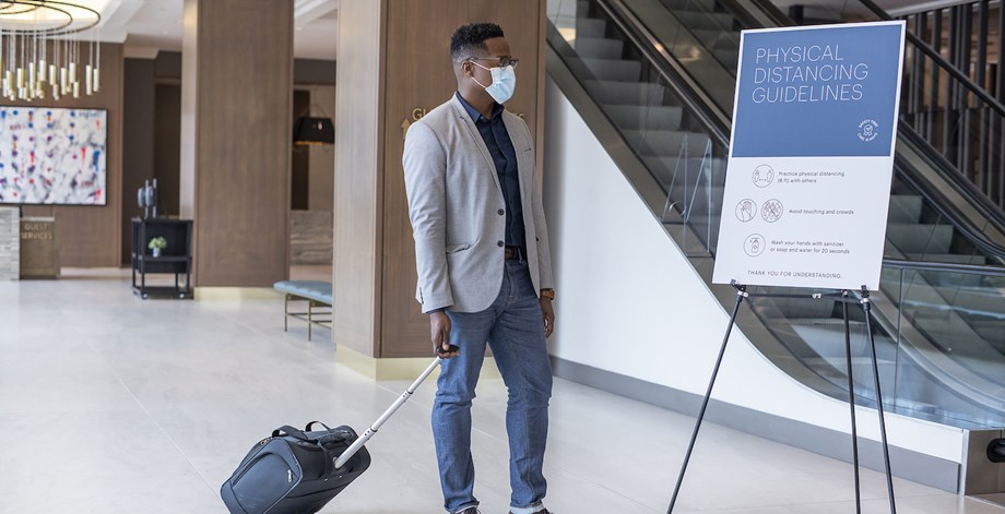 Hyatt guests will be required to wear a face mask while indoors, including in meeting spaces and at hotel restaurants and bars.