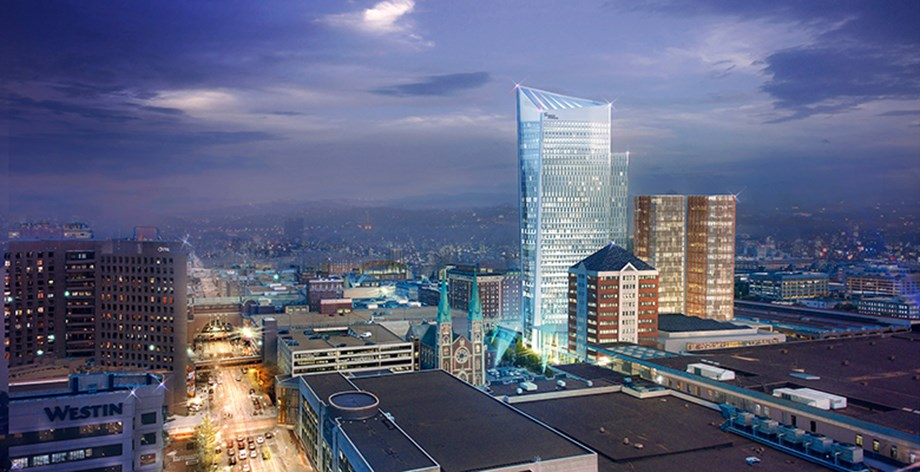 Rendering of the Signia Hilton Indianapolis