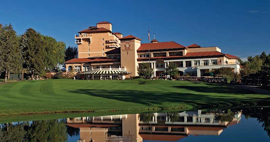 Golf shines in the foothills at the Broadmoor in Colorado Springs.