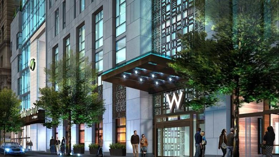 The W and Element Philadelphia together will offer 46,000 square feet of meeting space.