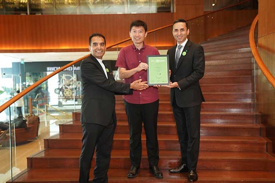 The Grand Hyatt Singapore was the first hotel to earn the SG Clean designation.