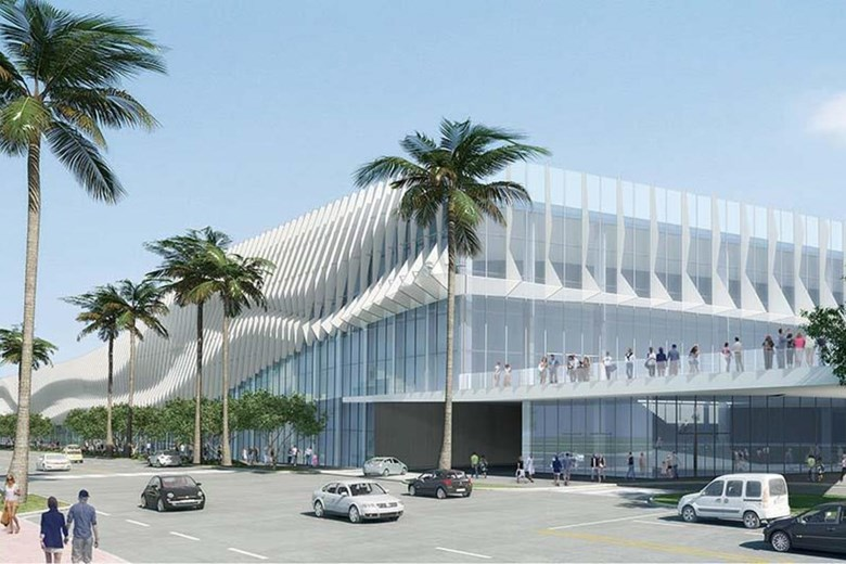 Rendering Of The Reimagined Miami Beach Convention Center