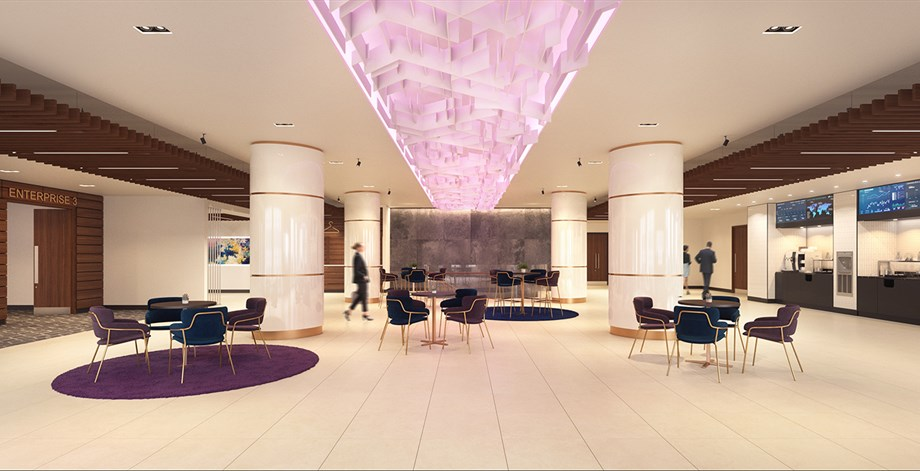 A rendering of Etc. Venues' forthcoming space at 360 Madison Ave