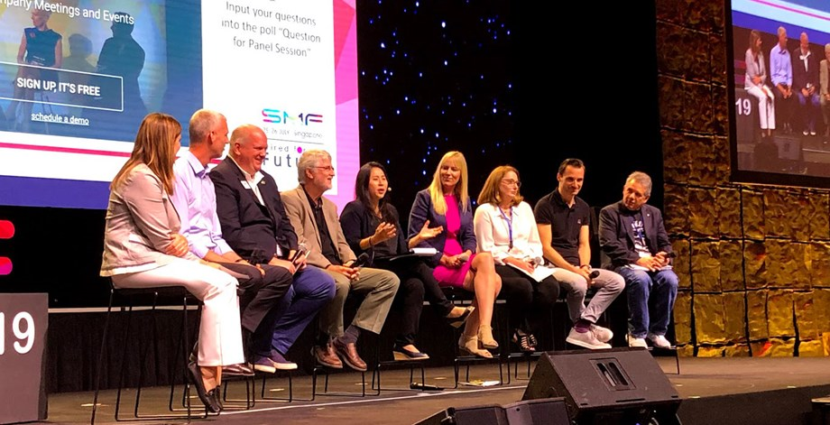 "Leaders of a number of MICE organizations took part in the panel on ""A Global Perspective of the Business Events Industry."""
