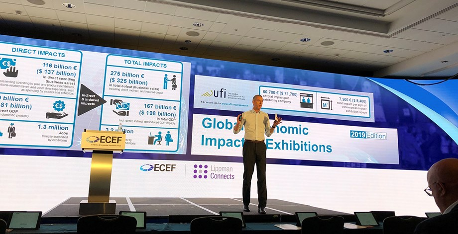 "Kai Hattendorf, managing director/CEO of UFI, the Global Association of the Exhibition Industry, shared findings from its ""UFI Global Exhibition Barometer."""