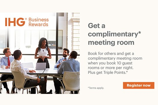 IHG® Business Rewards: You Book. They Meet. You Earn.