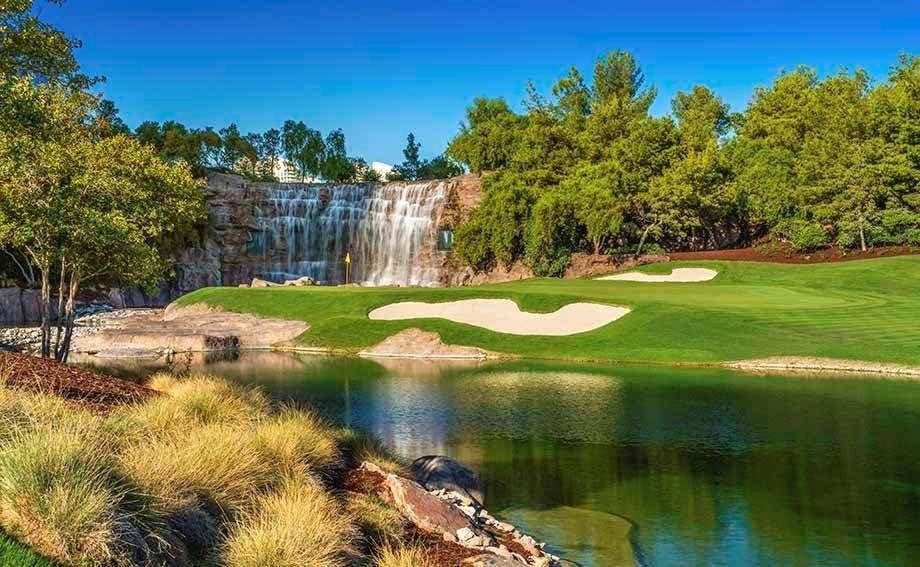 Wynn 2 920 golf waterfall