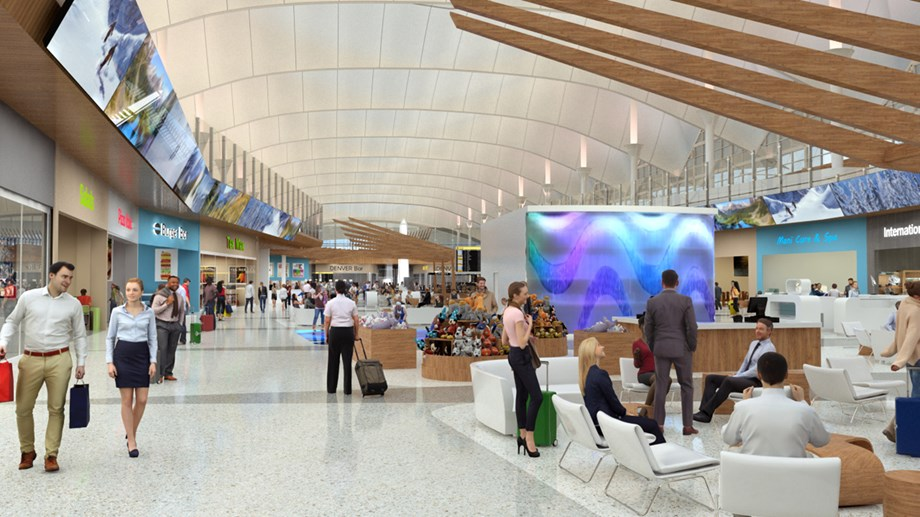 Work should finish up in 2021 on Denver International's expanded concourses.