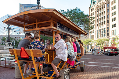 A mobile pub was one of the outings attendees of this year's MPI WEC enjoyed in Indianapolis