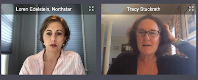 Tracy Stuckrath of Thrive! Meetings & Events discusses F&B safety in the era of COVID-19 with Northstar Meetings Group vice president and content director Loren Edelstein.